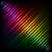 Rainbow neon diagonal equalizer — Stock Vector
