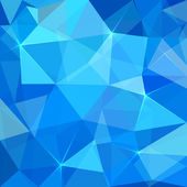 Abstract blue triangles vector background — ストックベクタ
