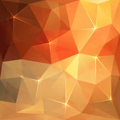 Abstract triangles vector orange background — Stock Vector