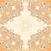 Ornate vintage seamless pattern in mehndi style — Stock Photo