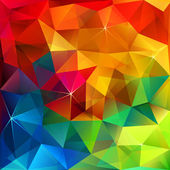 Rainbow colors triangular vector pattern — Stockvector