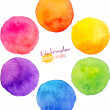 Rainbow watercolor vector circles — Stock Vector #46394611