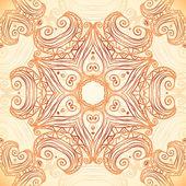 богато украшенные старинные шаблон в стиле индийских менди — Cтоковый вектор
