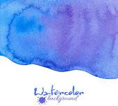 Blue watercolor vector background — Stock Vector