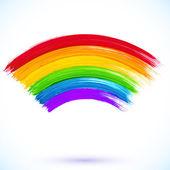 Acrylic painted isolated vector rainbow — Vettoriale Stock