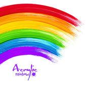 Acrylic painted rainbow, vector image — Wektor stockowy
