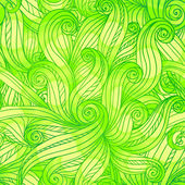 Green doodle abstract vector seamless pattern — Stock Vector