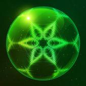 Green shining techno vector sphere — Stock Vector