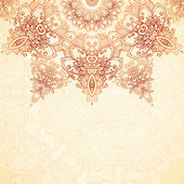 Ornate vintage background in mehndi style — Vector de stock