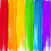 Bright rainbow paint strokes background — Vector de stock