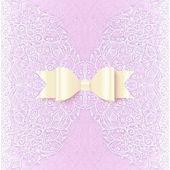 Ornate lacy wedding invitation card cover — Stock Vector