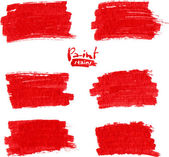 Red marker vector stains — Stock Vector