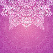 Pink vector ornate vintage wedding card background — Stock Vector