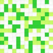 Mozaik dikişsiz desen vektör, beyaz ve yeşil — Stok Vektör