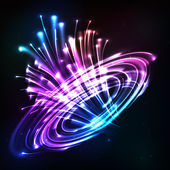 Neon lights vector cosmic explode — Stock Vector