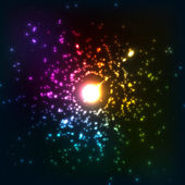 Colorful vector cosmic explosion — Stock Vector