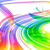 Rainbow colors abstract lines vector background — ストックベクタ
