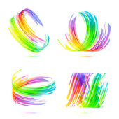 Rainbow colors abstract backgrounds set — Stock Vector