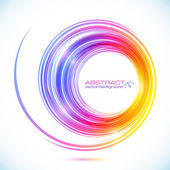 Abstract colorful vector circle frame — Vecteur
