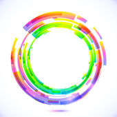Rainbow colors abstract vector circle frame — Stock Vector