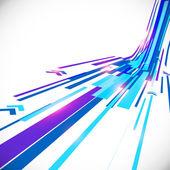 Abstrakte blaue leuchtende Linien Vektor Hintergrund — Stockvektor