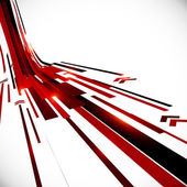 Abstract vector black and red perspective techno background — Stock Vector