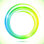 Abstract shining greencircle modern frame — Vector de stock