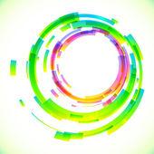 Abstract vector colorful circles frame — Stock Vector