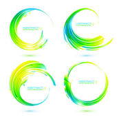 Set of colorful circle abstract frames — Stock Vector
