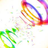 Abstract vector rainbow colors tornado — Vecteur