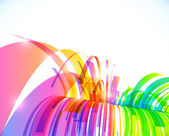 Rainbow colors abstract shining perspective waterfall — Vector de stock