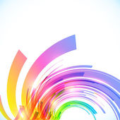 Rainbow colors abstract vector shining background — Vector de stock