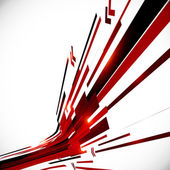 Abstract red and black shining lines background — Vector de stock