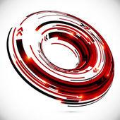 Vector abstract techno 3D circle background — Stock Vector