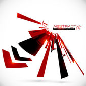 Abstract red and black shining lines background — Stock Vector