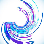 Abstract vector blue techno spiral background — Vector de stock
