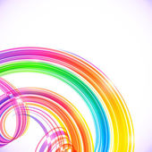 Rainbow colors abstract shining spirals background — Vector de stock