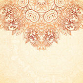 Ornate vintage background in mehndi style — Stock Vector