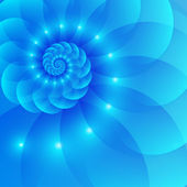 Blue spiral abstract vector background — Vettoriale Stock