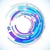 Abstract vector blue techno spiral background — Stock Vector