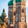 Famous Munich Cathedral - Liebfrauenkirche - Stock Photo