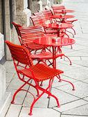 Sidewalk cafe — Stock Photo