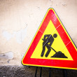 men at work sign — Stock Photo