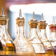 Oil bottles — Stock Photo