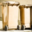 Wheeled garbage cans — Stockfoto