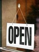 Open teken — Stockfoto