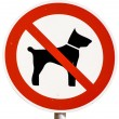No dogs allowed sign — Stock Photo #16850745