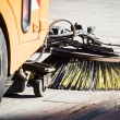 Street sweeper machine - Stock Photo