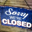 Old closed sign — Stock Photo