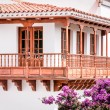 Typical canarian wooden balcony — Stock Photo